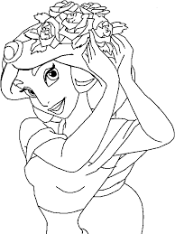 Download Jasmine Doing Her Hair Disney Coloring Pages Or Print