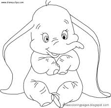 View Original Size Dumbo Elephant Coloring Pages For Kids Printable