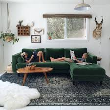 Green Velvet Couch Ikea Sage What Color Walls Loveseat Accent