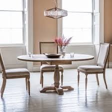French Colonial Round Extending Dining Table 4 To 6 Seater