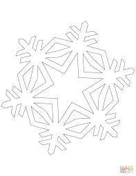 Click The Simple Crystal Snowflake Coloring Pages To View Printable Version Or Color It Online Compatible