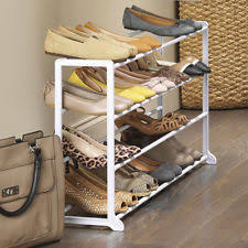 Mainstays Expandable 4 Tier Shoe Rack Closet Organizer