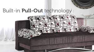 Istikbal Sofa Bed Uk by Fantasy Aristo Three Seat Sofa Sleeper With Storage In Brown Youtube