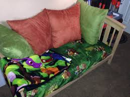 Ninja Turtle Bedroom Ideas by Turned My Sons Old Toddler Bed Into A Couch To Match His Ninja