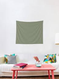 salbei grün einfarbig wandbehang