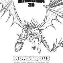 Monstrous Nightmare Coloring Page