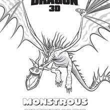 Nightfury Monstrous Nightmare Coloring Page