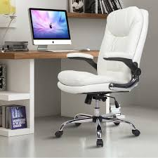 YAMASORO Ergonomic Executive Office Chair White,High Back Leather Computer  Chair Flip Up Arm Rests,Office Desk Chairs With Wheels For Heavy People Luxury Pu Leather Executive Swivel Computer Chair Office Desk With Latch Recline Mechanism Brown Eliza Tinsley Black Belleze Highback Ergonomic Padded Arms Mocha Barton Economy Hydraulic Lift Senarai Harga Style Lifted Household Multi Heavy Duty Task Big And Tall Details About Rolling High Back Essentials Officecomputer Belleze Tilt Lumber Support Faux For Look Costway