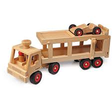 100 Toy Car Carrier Truck Transporter Wooden