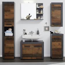 badezimmer cancun in used wood design mit matera grau 5 teilig 175 x 184 cm