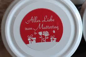 etikett muttertag ausschließlich für kuchen im glas