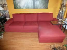 details zu ikea kivik 3er sofa rot