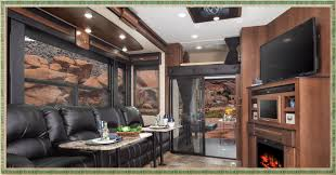 Front Living Room 5th Wheel Travel Trailers Cougar 337fls