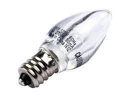 westinghouse non dimmable clear 1w c7 light led bulb 1c7