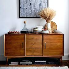 Buffet Credenza Mid Century Large West Elm Modern Dining Room