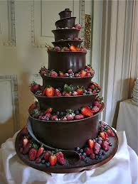 Extreme Red And Back Wedding Cake Strawberries Dark Chocolate This Looks Incredible