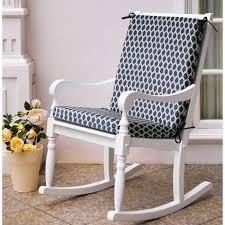 Navy Basketweave Outdoor Chair Pad
