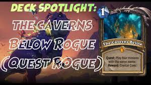 Edwin Vancleef Deck Budget by Hearthstone Deck Spotlight The Cavern Below Rogue Youtube
