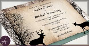 Rustic Deer Wedding Invitations Buck And Doe
