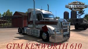 100 Kw Truck American Simulator GTM KW T610 PULLING TRIPLES YouTube