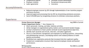 resume letter cover sle wonderful human resources generalist
