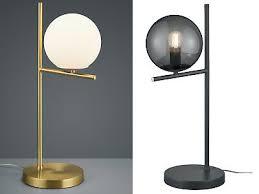 design led nachttischlen mit glas lenschirm