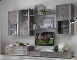 wohnwand öffenporig mit türen schubladen und bretter schönes wohnzimmer möbel made in italy neu solide struktur aus holz direkt vom hersteller