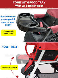 READY STOCK! TWIN STROLLER 2 Kids Baby Stroller Twin Double ...