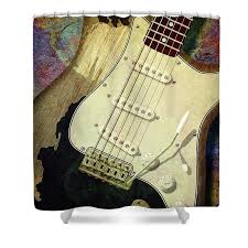 John Mayer Shower Curtain Featuring The Photograph Black Stratocaster By WB Johnston