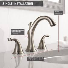 Delta Mandara 8 Faucet by Delta Faucet 3592lf Ss Addison Two Handle Widespread Bathroom