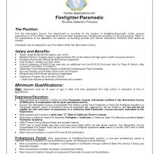 resume for firefighter paramedic gorgeous inspiration emt resume exles 16 administrator