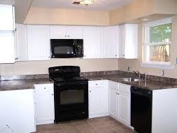Cabinet For Kitchen Appliances Design White Cabinets Black Granite