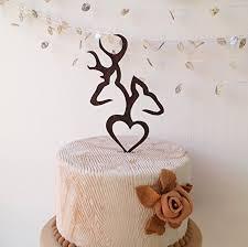 Deer Cake Topper Wedding Buck And Doe Wooden