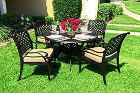 Cast Aluminum Patio Furniture With Sunbrella Cushions by 19 Great Aluminum Patio Sets