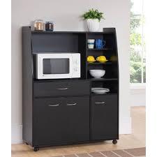 meuble de cuisine noir kitchen desserte de cuisine l 100 cm noir mat achat vente