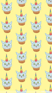 Rainbow Unicorn Cupcake Cat Mobile Wallpaper