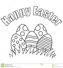 Happy Easter Black And White Clipart