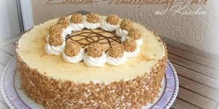 eierlikör vanillepudding torte mit kirschen