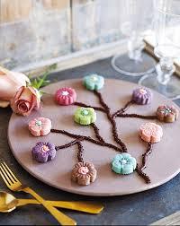 décor fleurs japonaises gâteau pâte d amande