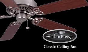 Harbor Breeze 52 Inch Bellhaven Ceiling Fan by Litex Harbor Breeze Harbor Breeze Builder U0027s Series Ceiling Fan