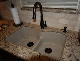 Kohler Smart Divide Sink by Caesarstone Dreamy Marfil With Kohler White Whitehave Sink And Oil