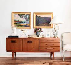 1 Credenza 4 Ways Upper East Side Mid century Emily Henderson