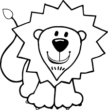 Kids Lion Coloring Page