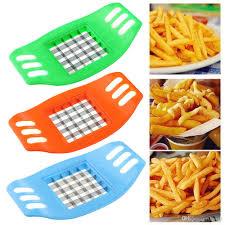 großhandel kartoffelchips cut cutter edelstahl gemüse quadrat slicer schneidegerät fritten küche werkzeug für französisch fry cutters hmall 0 91