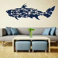 Shark Fish Interior Art Wall Stickers Decals Large Murals Huge FI9