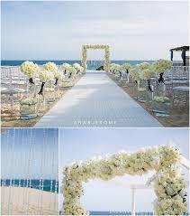 White Wedding Flowers Beach Weddings Cabo Destination Ana Jerome Photo
