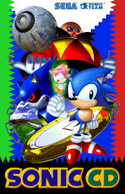 Originally The Cover Art For Japanese Release Of Sonic CD Home Computers Had This Artwork In A Mostly White Background Surrounded By Simple