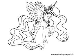 My Little Pony Coloring Pages Princess Luna Page Cartoons Drawn