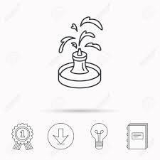100 Lamp Architecture Fountain Icon Water In Park Sign Symbol Download
