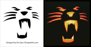 Wolf Face Pumpkin Carving Patterns by Free Simple U0026 Easy Pumpkin Carving Stencils Patterns For Kids 2014